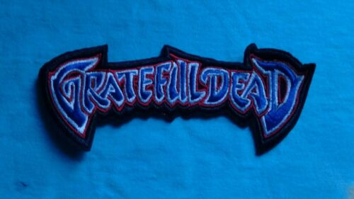 Grateful Dead Logo 2 x 5 Inch Iron On Patch