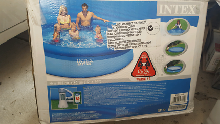 Intex 10ft pool with filter pump