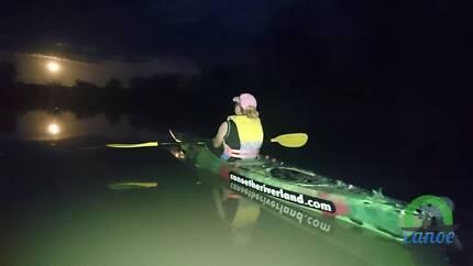 Moonlight Kayaking over Easter