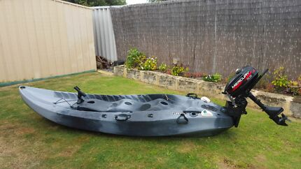 Kayak with outboard Warnbro Rockingham Area Preview