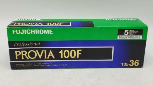 Expired/Sealed Box of 5 Rolls Fuji Fujichrome Provia 100F RDPIII 135 35mm Film