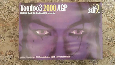 3dfx Voodoo3 1000 graphics card 16MB BOX AGP