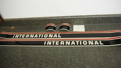 International 384 Tractor Decal Set. Hood And Numbers Only. See Detailspics