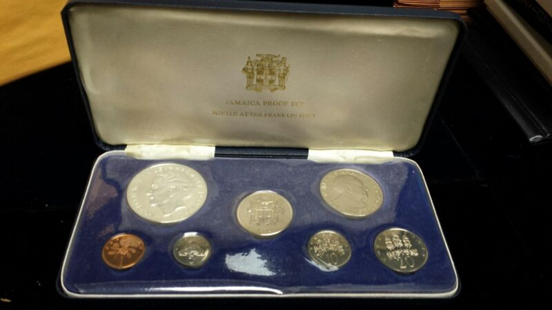 1972 Jamaica Proof Set w/ COA & Box