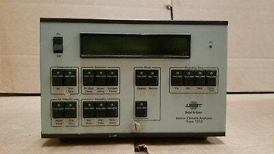 Bruel Kjaer 1213 Indoor Climate Analyzer With Power Supply