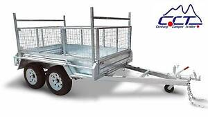 8×5 FULL WELDED TANDEM BOX TRAILER WITH 600MM CAGE Rocklea Brisbane South West Preview