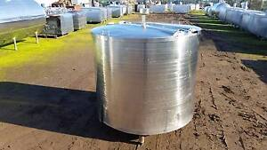 1100 lt stainless steel tank, milk vat,holding tank, vessel, stor Timboon Corangamite Area Preview