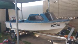 14ft half cab fishing boat