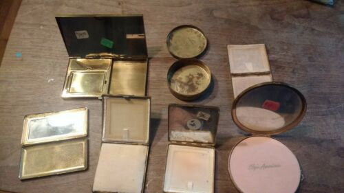 Vintage!!!! Volupte various Brass Makeup Compact lot of 7