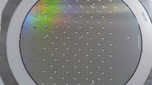8 inch Silicon Wafer Test Mask Artistic Pattern #1