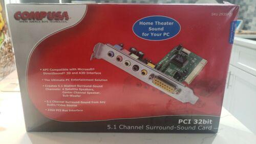 CompUSA 293597 5.1 surround sound card audio/ video 32bit PC