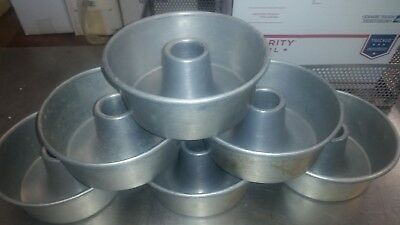 Lot Of 6 Used Bundt Pans - Heavy Aluminum 7 12