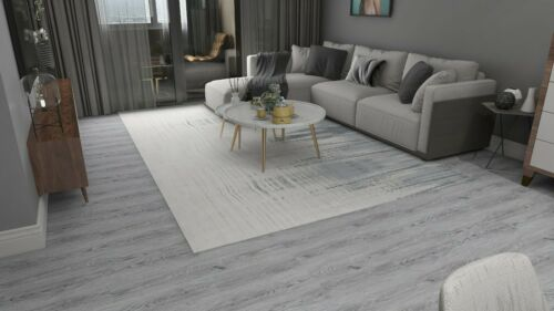 EasyFloor© Self-adhesive Floor Planks Tiles Matt Wooden Wash Grey Fast Delivery