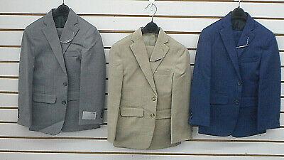 Boys Grey Suit (Boys Geoffrey Beene $85 Gray, Tan or Blue 2PC Suit Sizes 8, 10 12 14  16 18 &)