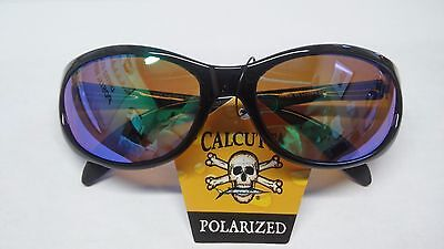 de13d59a1a New Authentic Calcutta Smoker Sunglasses-Black Frame Green Mirror  Lens-470822