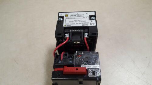 Square D 8536SCO3H31S NEMA 1 Motor Starter W/Motor Logic Overload Relay SF120