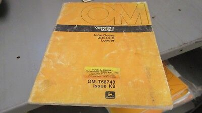 John Deere Omt68748 Operators Manual For 544-b Wheel Loader