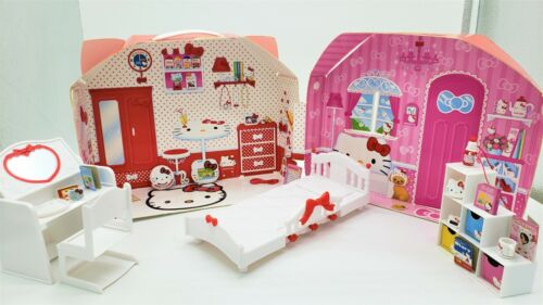 Used TAKARA TOMY X Sanrio Hello Kitty Licca Doll House Toy House Japan Exclusive