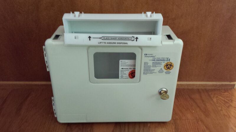 Sharps Needle Container Wall Mount Enclosure by Covidien SharpSafety