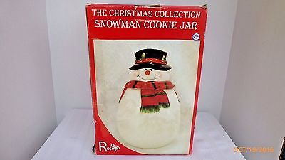 The Christmas Collection Snowman Cookie Jar By Rosetti  Large 11.5 Inches