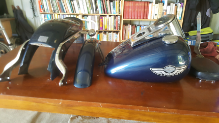 Complete harley softail tins (painted)