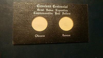 1936 Cleveland Great Lakes Commemorative Half   Original 2 Coin Leather Holder