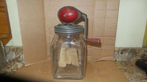 Antique Vintage Dazey No 4 Butter Churn, 4 Quart Square Jar