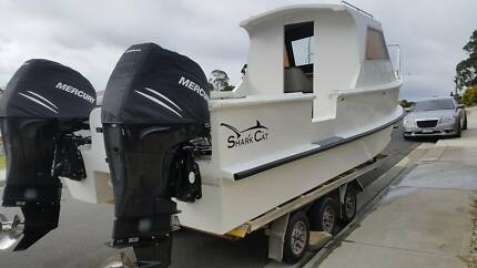24' sharkcat boat with twin mercury verados BARGAIN shark cat Kingston Kingborough Area Preview
