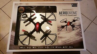 Practice AeroDrone Drone with Live Streaming Camera - Red - New in Box