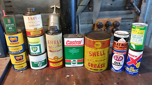 Wanted old oil grease cans,  bottles, signs and tins. North Parramatta Parramatta Area Preview