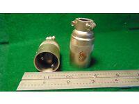 1 Cannon P2-CG-12S 2 Pin Male Audio Plug NOS.