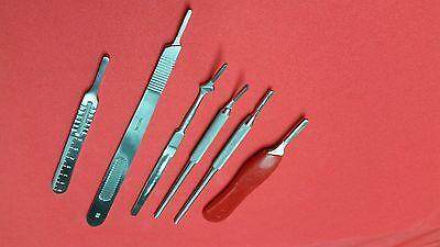 Premium Grade Set Of 6 Assorted Surgical Scalpel Blade Handles Instruments