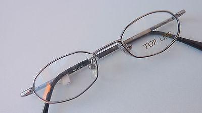Metall Brillenfassung für Jungen Kinderbrille Federscharniere silber Neu Gr. XS