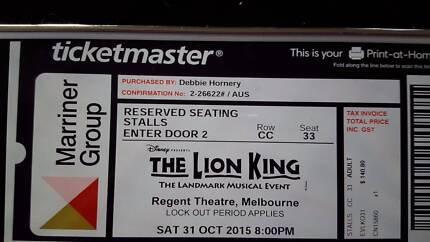 Disney presents The Lion King West Moonah Glenorchy Area Preview