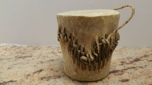 Vintage Animal Skin Shaker Drum