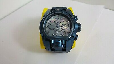 Invicta Reserve Bolt Zeus Magnum Blue Steel Platinum MOP 52mm Swiss Watch New