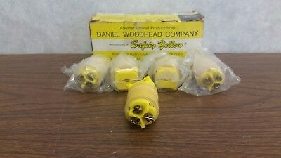 Daniel Woodhead Safety Yellow Replacement Electrical Plugs - Box Of 5