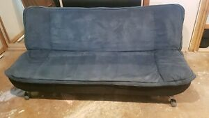 3 seater couch lounge sofa converts to double futon bed