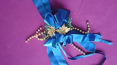 Schleifen Deko Blau Advent Weihnachten