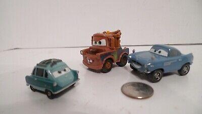 Disney Pixar Cars 2 Action Agents Professor Z , Mater , Finn McMissile Lot of 3