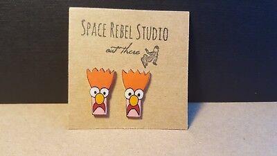 Beaker Stud Earrings~Muppet~Beeker~Scientist~Jewelry~Puppets~Jim Henson~Meep~Fun](Beeker Muppets)