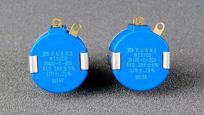 Bourns 3540s-1-203l 20k Ohm 10 Turn Precision Wirewound Potentiometer New
