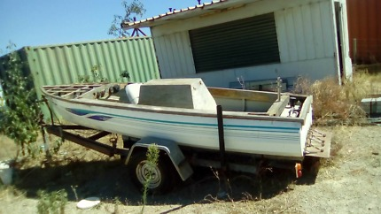 Boat Wooden on trailer