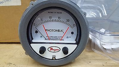 Dwyer A3025 Series 3000 Photohelic Pressure Switch Gage New Old Stock