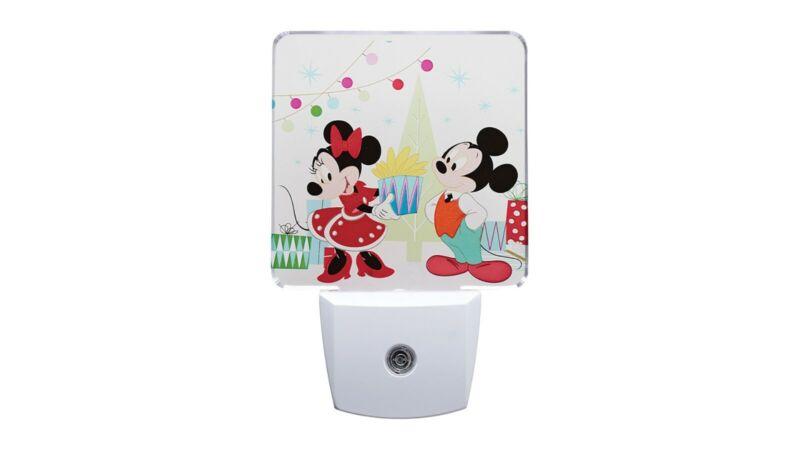 Disney Mickey and Minnie LED Sensor Night Light - Auto On/Off - White