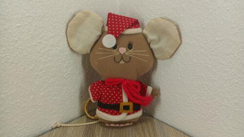 Hallmark Christmas Mouse Vintage Plush Hanging Ornament Holiday Decoration