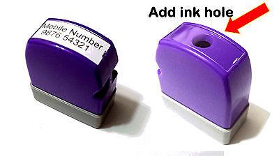 Custom Made Self Inkpre Ink Stamp Size 8 X 26mm Refill Mini.size