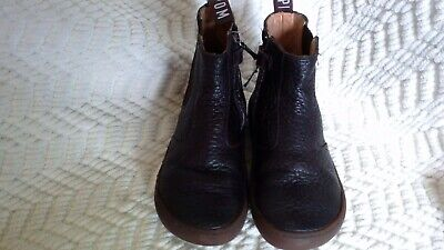 Pom d'Api Brown Pebbled Leather Side Zip Chelsea Boot Size 29 EU 11.5-12 US NWOB