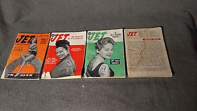4 Vintage Jet Magazine 1950s (Ebony) Centerfold Pinups