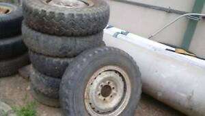 Toyota Land Cruiser Steel rims and tyres Cardiff Lake Macquarie Area Preview